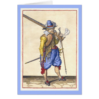 Dutch 17th Century Soldier - Greeting Card