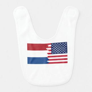Dutch American Flag Bib