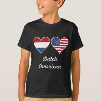 Dutch American Flag Hearts T-Shirt