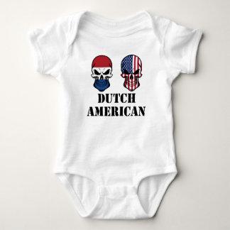 Dutch American Flag Skulls Baby Bodysuit