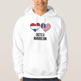 Dutch American Heart Flags Hoodie