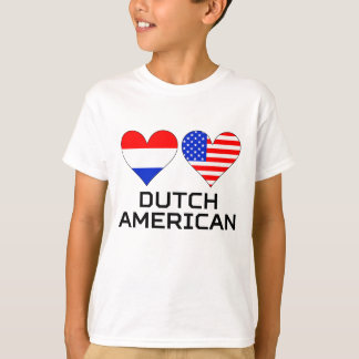 Dutch American Hearts T-Shirt