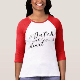 Dutch At Heart Tee Shirt, Netherlands Flag