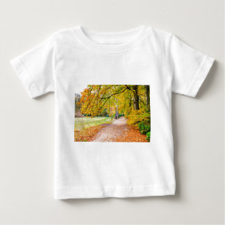 Dutch autumn landscape with footpath and tree baby T-Shirt