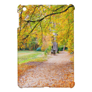 Dutch autumn landscape with footpath and tree iPad mini cases