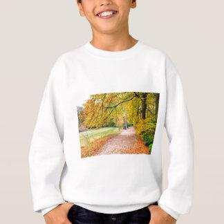 Dutch autumn landscape with footpath and tree sweatshirt