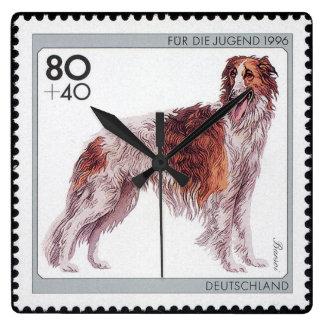 Dutch Borzoi Stamp Clock