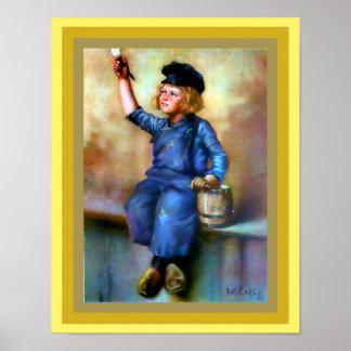 Dutch Boy Painter Print Vintage 1908 enhanced copy