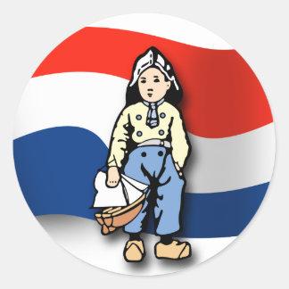 Dutch Boy Round Sticker
