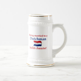 Dutch Builds Character 18 Oz Beer Stein