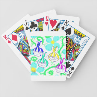 Dutch bunnies in the flowers bicycle playing cards