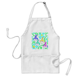 Dutch bunnies in the flowers standard apron