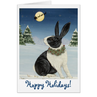 Dutch Bunny Rabbit - Hoppy Holidays! Card