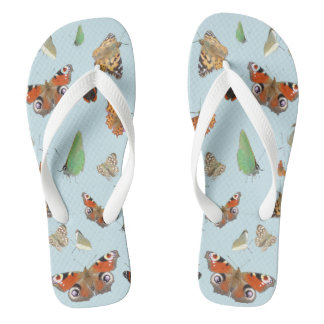 Dutch Butterflies Adult Flip Flops