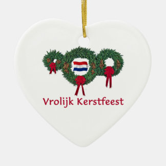 Dutch Christmas 2 Ceramic Ornament