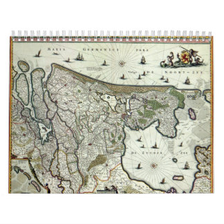 Dutch Cities Anno 1652 - Version 2 Wall Calendars