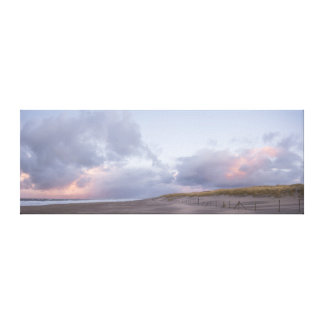 Dutch coast sunset panorama canvas print