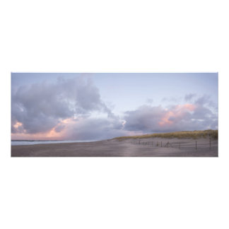 Dutch coast sunset panorama print