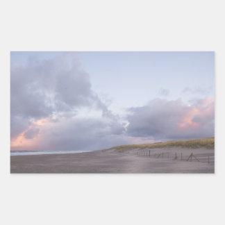 Dutch coast sunset photo sticker