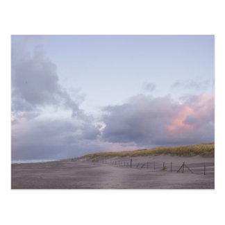 Dutch coast sunset postcard