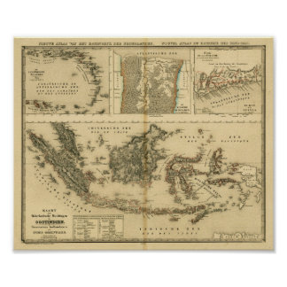 Dutch Colonial Possessions around 1840 Poster