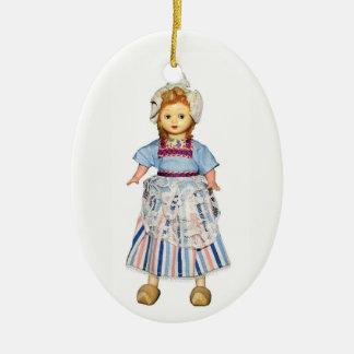 Dutch Doll Ceramic Ornament