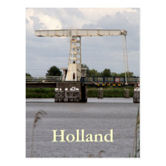 Dutch drawbridge postcard
