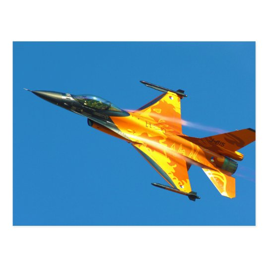 Dutch F-16 Fighting Falcon Jet Airplane Postcard