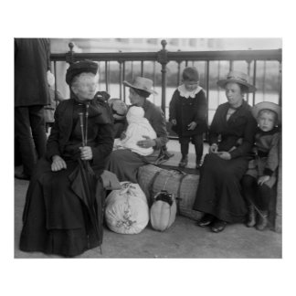 Dutch Family at Ellis Island, early 1900s Poster