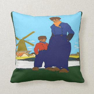 Dutch, Father & Son, add text Throw Pillow