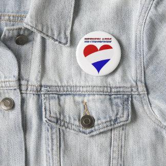 Dutch flag 2 inch round button