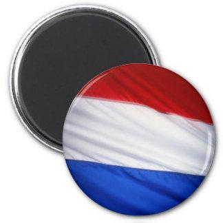 Dutch Flag 2 Inch Round Magnet
