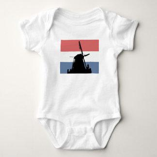 Dutch flag and windmill baby bodysuit
