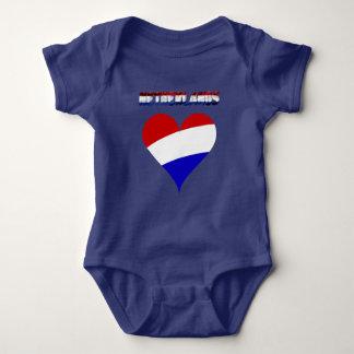 Dutch flag baby bodysuit