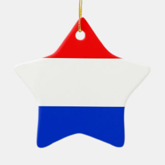 Dutch Flag Ceramic Ornament
