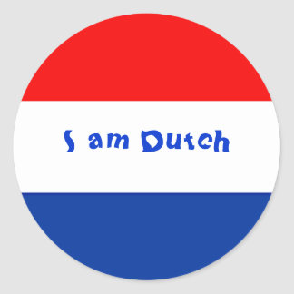 Dutch Flag Classic Round Sticker