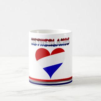 Dutch flag coffee mug