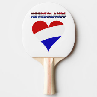 Dutch flag ping pong paddle