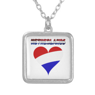 Dutch flag silver plated necklace