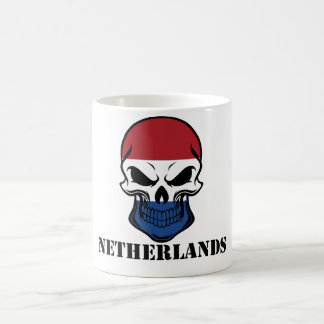 Dutch Flag Skull Netherlands Coffee Mug
