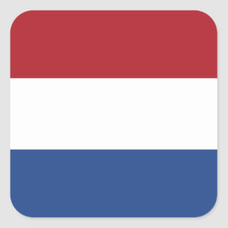 Dutch Flag Square Sticker
