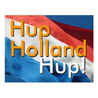 Dutch Flag & Text Hup, Holland, Hup! Post Card