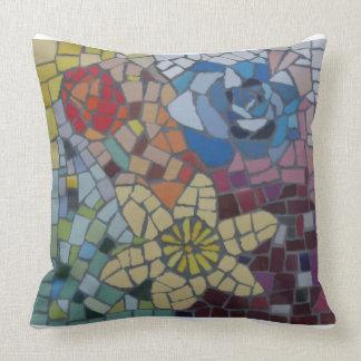 Dutch Flowers Colourful Mosaic Pillow