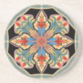 Dutch Flowers Kaleidoscope Coaster
