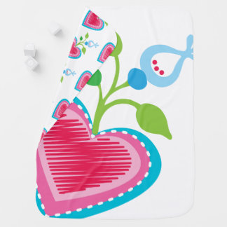 Dutch Garden Heart Baby Blanket