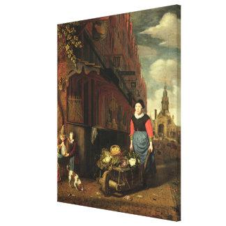 Dutch Genre Scene, 1668 Gallery Wrapped Canvas