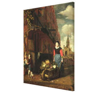 Dutch Genre Scene, 1668 Gallery Wrap Canvas
