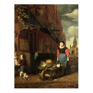 Dutch Genre Scene, 1668 Postcard