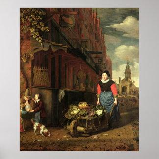 Dutch Genre Scene, 1668 Poster