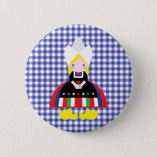 Dutch girl 2 inch round button